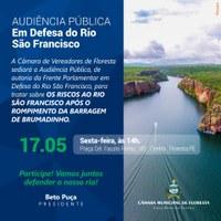 AUDIÊNCIA PÚBLICA EM DEFESA DO RIO SÃO FRANCISCO