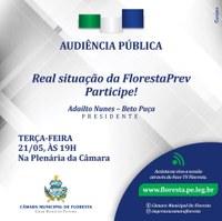 AUDIÊNCIA PÚBLICA - Real situação da FlorestaPrev