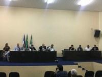 Câmara de Vereadores de Floresta realiza audiência pública com Prefeitura e Compesa para debater possível convênio sobre saneamento público.