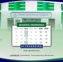 CÂMARA DIVULGA CALENDÁRIO DAS SESSÕES ORDINÁRIAS PARA O MÊS DE FEVEREIRO DE 2021