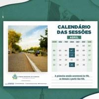 Câmara Municipal de Floresta divulga calendário das Sessões Ordinárias para o mês de abril de 2021