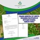 Câmara Municipal de Floresta encaminha solicitação ao Deputado Estadual Fabrízio Ferraz