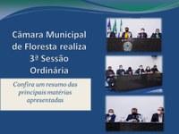 Câmara Municipal de Floresta realiza 3ª Sessão Ordinária