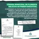 Câmara Municipal de Floresta solicita cumprimento de protocolos de saúde, dada a gravidade do momento que estamos vivenciando em função da pandemia do COVID-19