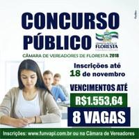 Concurso Público da Câmara Municipal de Floresta