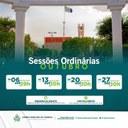 Confira o calendário 📅 das Sessões Ordinárias para o mês de Outubro de 2021.