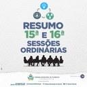 Confira o resumo das matérias apresentadas pelos vereadores na 15ª e 16ª Sessões Ordinárias do 1º Período Legislativo de 2021.