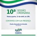 Convite 10ª Sessão Ordinária
