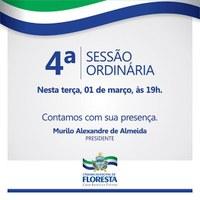 Convite 4ª Sessão Ordinária