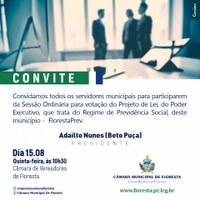 CONVITE A TODOS OS SERVIDORES MUNICIPAIS