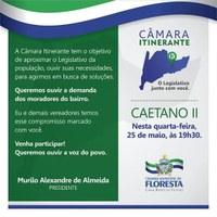 Convite Câmara Itinerante Bairro Caetano II