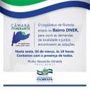 Convite Câmara Itinerante no bairro do DNER
