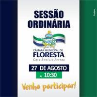 Convite para a próxima Sessão Ordinária