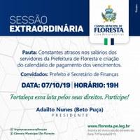CONVITE PARA SESSÃO EXTRAORDINÁRIA DESTA SEGUNDA (7)