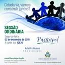 CONVITE PARA SESSÃO ORDINÁRIA