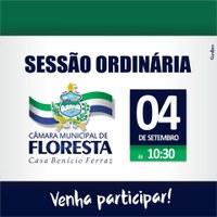 Convite para Sessão Ordinária dia 04.09.2018