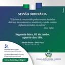CONVITE SESSÃO ORDINÁRIA