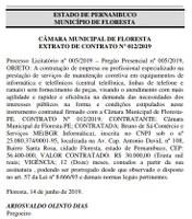 EXTRATO DE CONTRATO Nº 012/2019