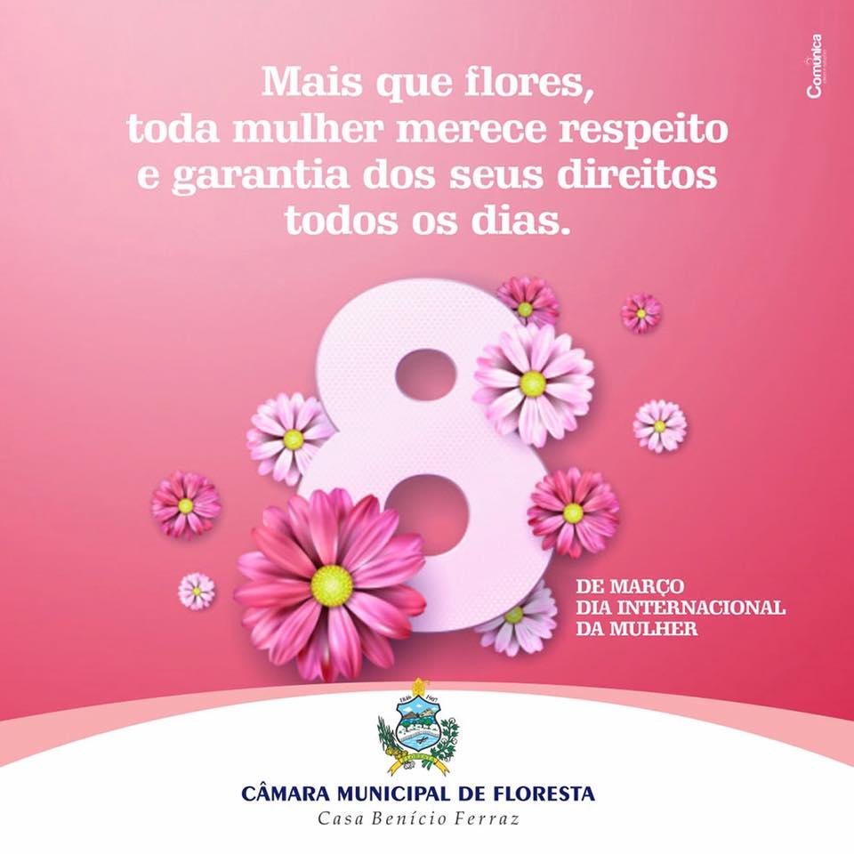 Homenagem da Câmara de Vereadores de Floresta ao dia da mulher