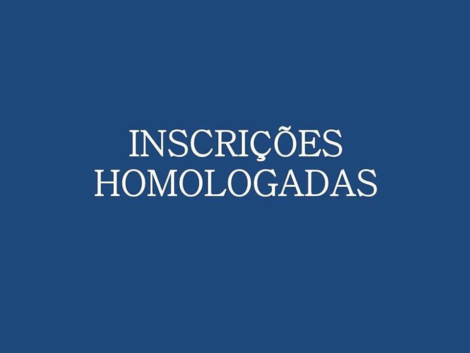 INSCRIÇÕES HOMOLOGADAS E CONCORRÊNCIA