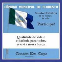 Participe da 9ª Sessão Ordinária do 1° Período Legislativo de 2017