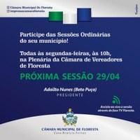 Participe das Sessões Ordinárias do seu município