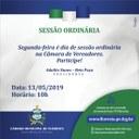 Participe das Sessões Ordinárias!