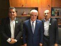 Presidente do Legislativo juntamente com 1° Secretário realizam visita importante