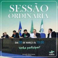 Sessão Ordiária dia 08.03.2018