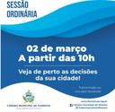 SESSÃO ORDINÁRIA - 02 DE MARÇO