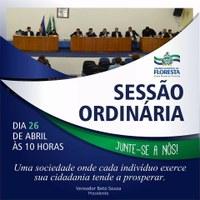 Sessão Ordinária - 26 de abril de 2017