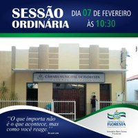 Sessão Ordinária - 7 de fevereiro