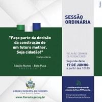 SESSÃO ORDINÁRIA - DIA 17 DE JUNHO