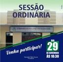 Sessão Ordinária dia 29 de novembro
